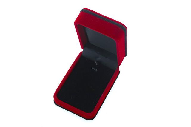 Velvet box bordeaux pendant ring box package box necklace bracelet earrings velvet jewelry box packaging Custom LOGO