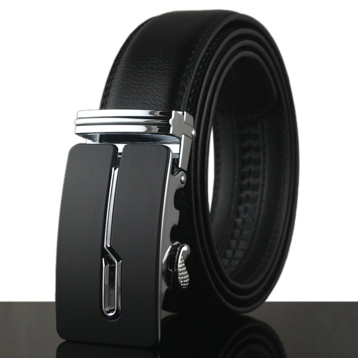 Belt 2016 designer automatic buckle Cowhide Leather men belt luxury fashion business belts for men(China (Mainland))