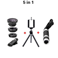 12X Zoome Lnes Mobile Phone Telescope 3in1 Fisheye fish eye Wide Angle Macro Lens Optical Lenses For iPhone 6s Samsung Huawei