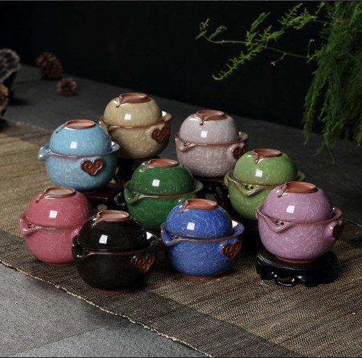 2014 gaiwan Ceramic tea sets Chinese Kung Fu Tea Quik Cup One pot and One cup