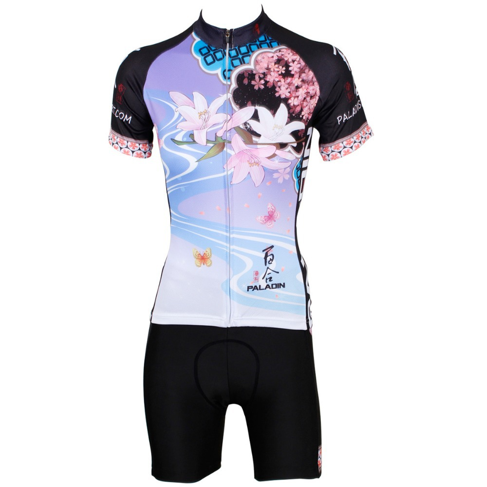 Lotus pattern Breathable Cycling Jersey Quick Dry Breathable Clothing Bike wear womam sport wear female clothes bike jersey<br><br>Aliexpress