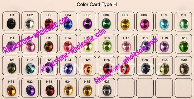 Faceted Eye Acrylic Rhinestone FLATBACK H01 7x15mm