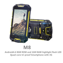 Original Snopow M8 Ip68 Waterproof Dustproof phone smart phone outdoor rugged cell mobile phone  WalkieTalkie android smartphone