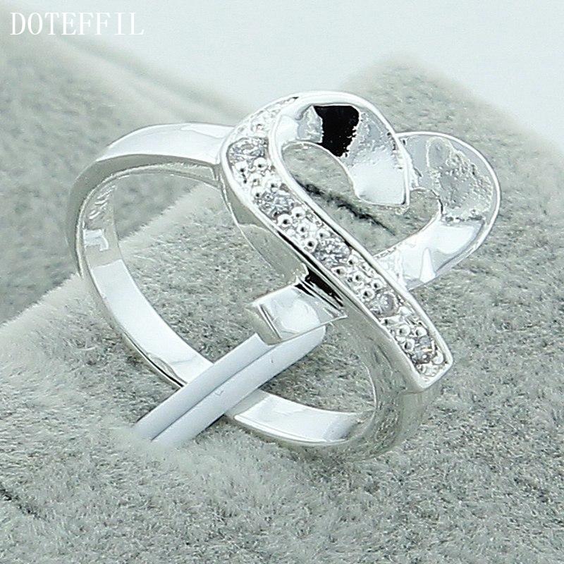 2016 Sale 925 Silver Rings Heart Love Zircon CZ Simulated Diamonds Fashion Acessories Ring Jewelry(China (Mainland))
