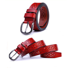 Buy LNRRABC Fashion Women Lady Girl Popular Chic Printing Hollow Leather Without Drilling Skinny Belt Wide Waist Clothes Accessorise for $4.81 in AliExpress store