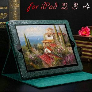 Phoenix Pattern PU Leather Case iPad 4 3 2 Smart Cover Stand Flip Luxury Fashion Protective Shell Black Brown - BOB Technology Co.,Ltd store