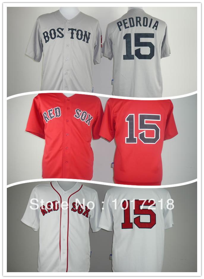 Excellent 2014 Stadium Series Men's Baseball Jerseys Boston Red Sox #15 Dustin Pedroia Jersey,Embroidery Logos Free Shipping(China (Mainland))