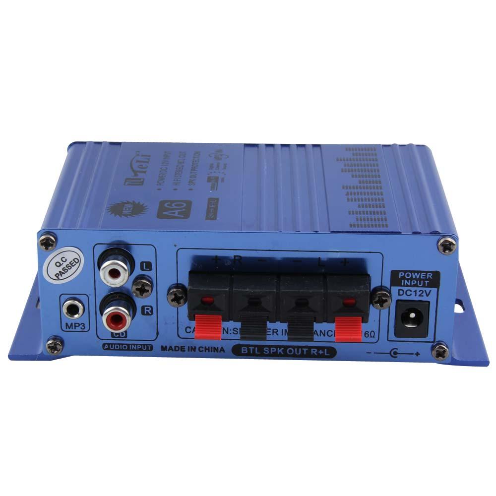 Hi-Fi Mini Digital Car Truck Motorcycle Stereo Audio Power Amplifier Support MP3 Hi-Fi Audio CD DVD Durable Player