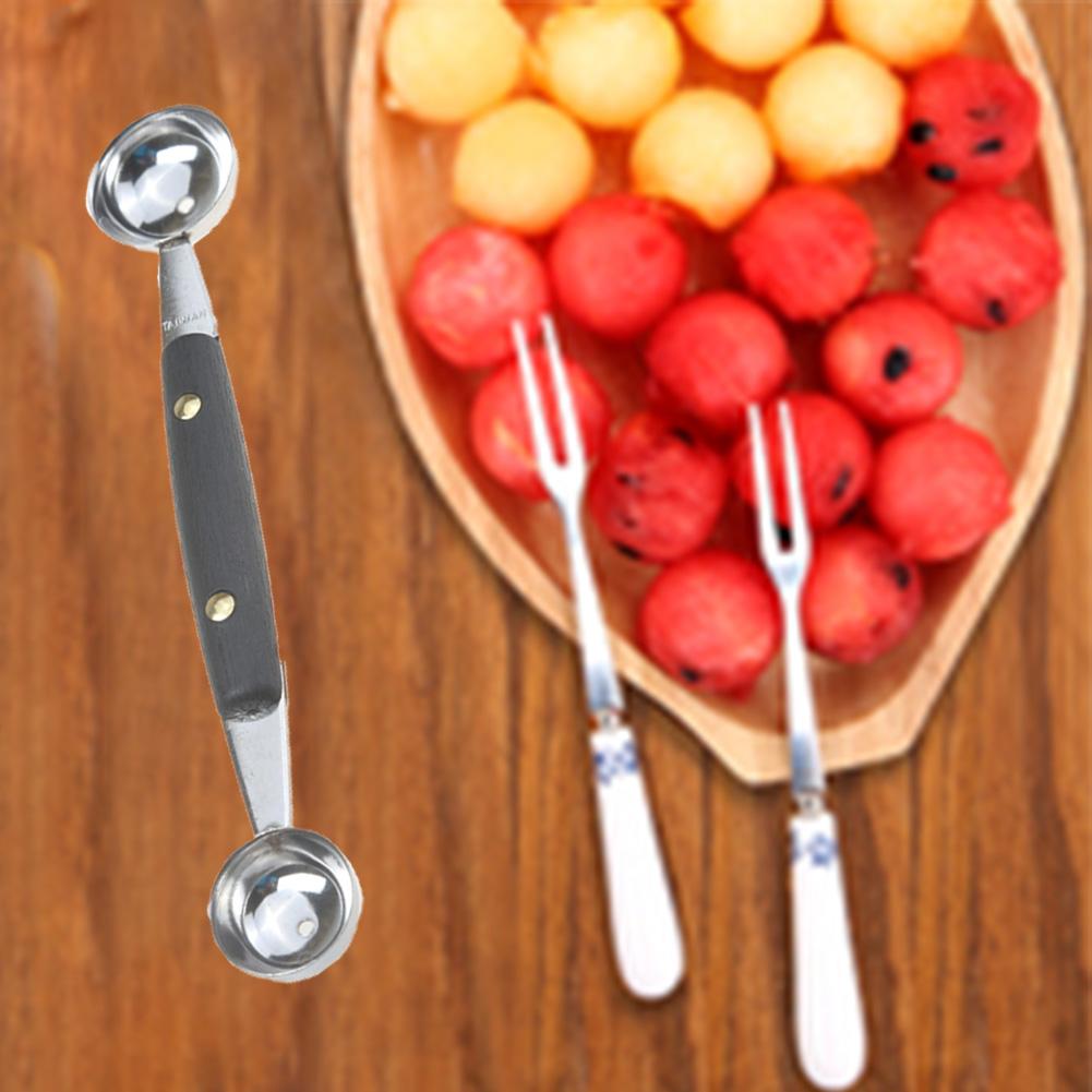 Ложечка для фруктов Мороженое Торт Декор Дыня двойной конец Кухня инструмент aeProduct.getSubject()