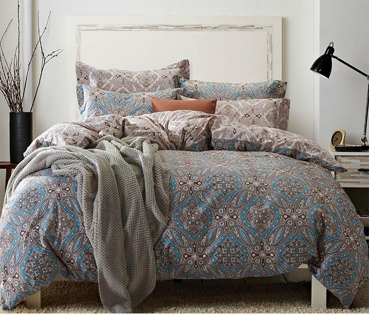Home Textile Cotton Classic Traditional Print Bedding Set