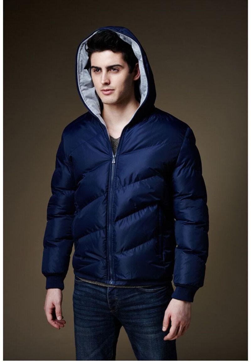 2016 erkek Kış Marka Pamuk Yastıklı Ceket Ceket Erkekler Katı kapşonlu Aşağı & Parkas Palto Erkek Sıcak Dış Giyim Artı Boyutu ceketler