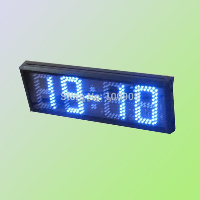 5 Quot Blue Led 4 Digital Display Desk Clock 7 Segment Red