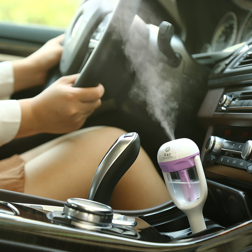 12V Mini Auto Car Steam aromatherapy humidifier Air Purifier Aroma Diffuser Auto Mist Maker Fogger(China (Mainland))