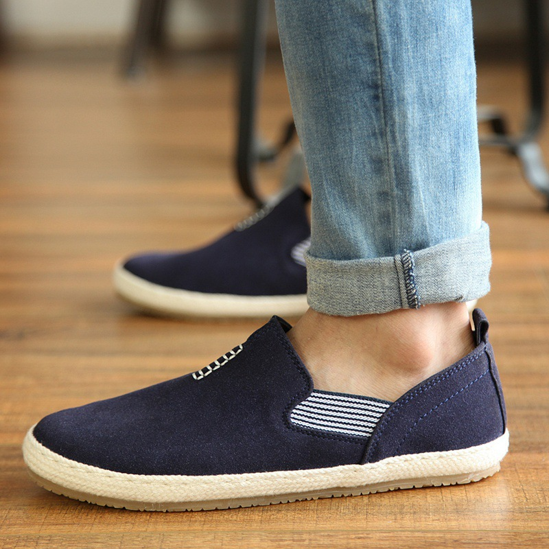 HOT 2016 NEW men outdoor Sports shoes fashion brand Breathable solid male loafers slip-on Flock Simple zapatos Plus size PX0043 - NO.1 store
