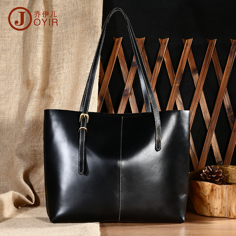 Brand Vintage Fashion Luxury 100% Top Genuine Oil Wax Cowhide Leather Women Tote Shopping Handbag Shoulder Bag Bags For Ladies<br><br>Aliexpress