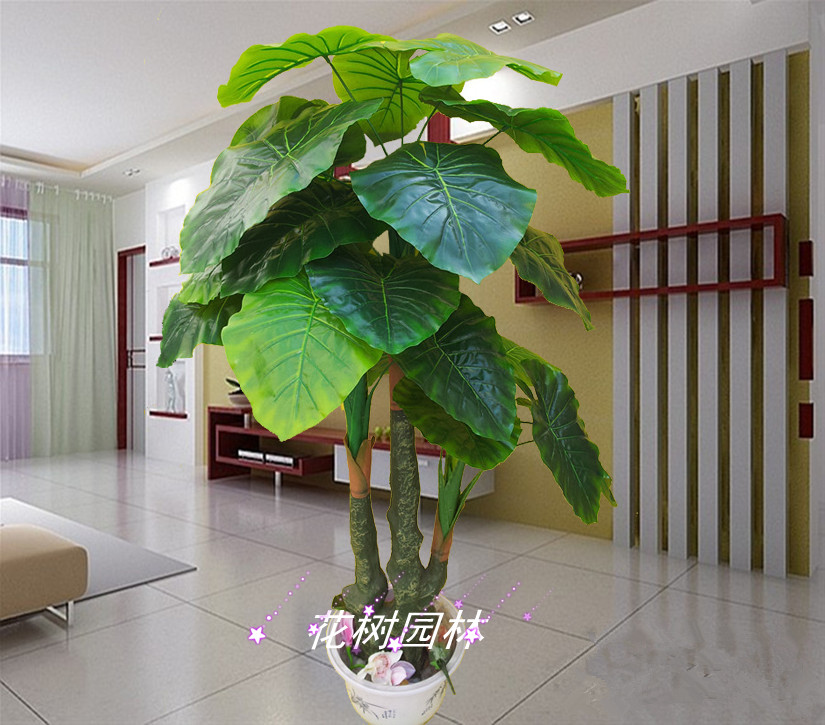Artificial plants jade guanyin living room decoration Large living room plants