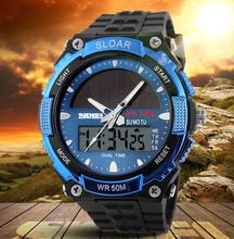 2016 Men Wristwatches Clock Resin Atomic Solar Sports Watch 2 Time Zone Digital Led Quartz Military Watch Travel Kits &(China (Mainland))