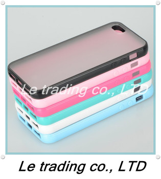 1PCS New Colorful Soft Plastic Back Cover Case fit for iPhone 5 5G CL-015 free shipping