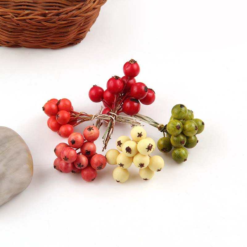 12pcs Decorative Fruit Berry Artificial Flower Silk Flowers Fruits decoracion boda Home Christmas Gift article Plants(China (Mainland))