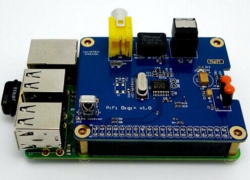 HIFI DiGi+Digital Sound Card I2S SPDIF Optical Fiber for Raspberry Pi Model A+&B+ Digital Chip(China (Mainland))