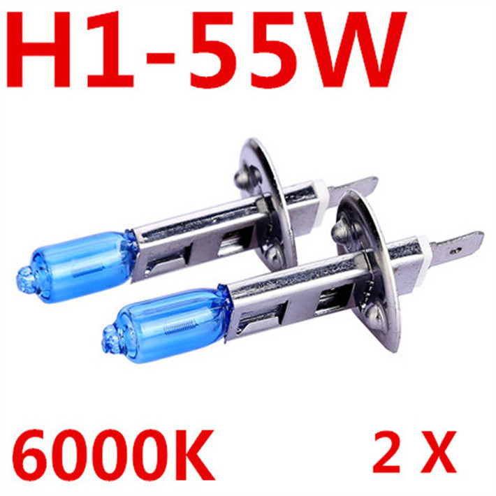 2X Fog Lights Auto Car Led H1 Headlight Bulb Lamp 12V 55W Super White 6000K Halogen Xenon Car Styling for Ford Free Shipping(China (Mainland))