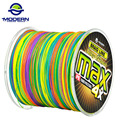 500M MODERN FISHING Brand MAX Series Multicolor 1M 1color Multifilament PE Braided Fishing Line 4 strands