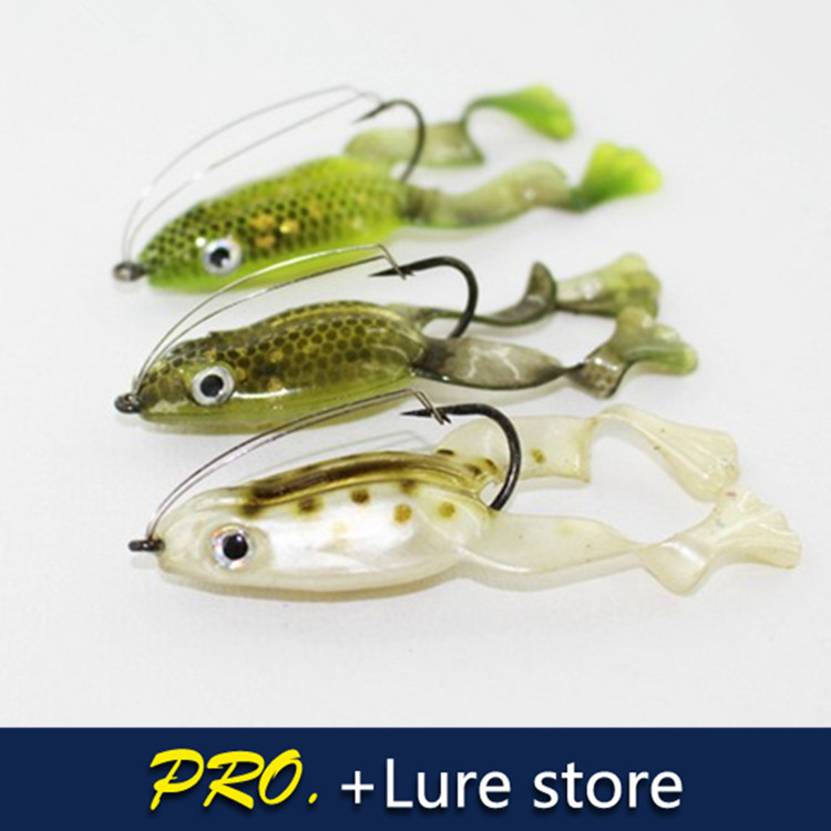 Buy free shipping 15pcs 3 colors soft for Frog bait fishing