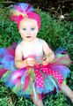 Lovely Baby Girls Fluffy Tutu Skirts Infant 100 Handmade Layers Ballet Tutus with Ribbon Bow and