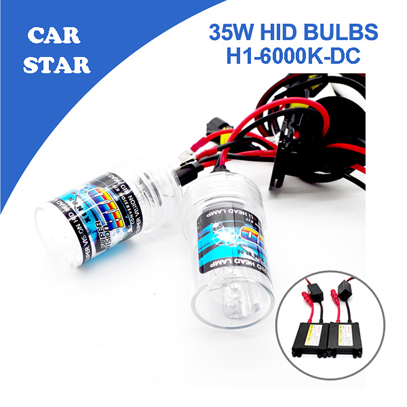 Free shipping 1set H1 Xenon HID Conversion Kit 35W 6000K With Slim DC Ballast For Car Headlight Replacement Bulbs Big Promotion(China (Mainland))