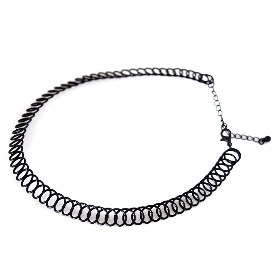Zinc Alloy Gold/Silver Plated Wrap Choker Necklace
