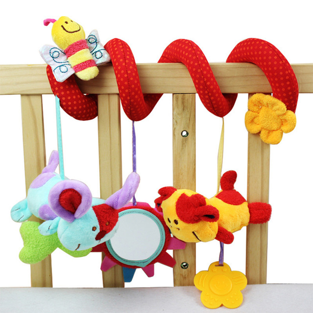 Baby Rattles Toy Animal Plush Toy Super Soft Multifunctional Bed Crib Hangings Brand
