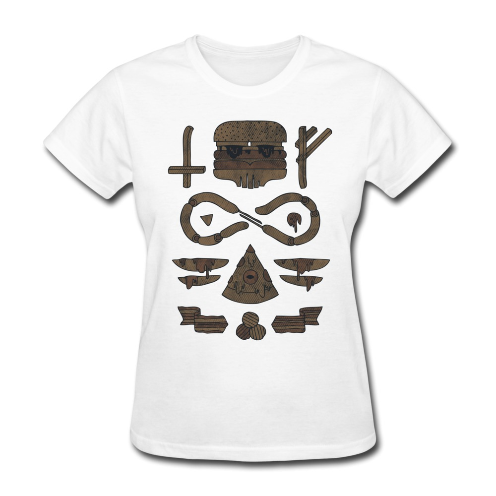 On sale gildan t shirt womens fast food occult personalize for Atm t shirt sale