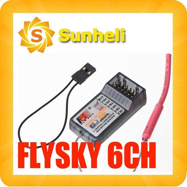 10PCS FlySky 2.4Ghz 6CH receiver FS-R6B R/C CT6B TH9x  rc 3ch 8ch remote control free shipping