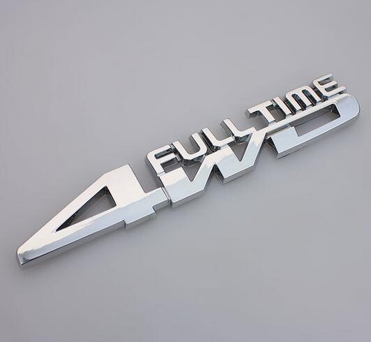 Auto metal chrome 4WD full time fit for RAV4 Highlander SUV Rear trunk Emblem Badge Sticker<br><br>Aliexpress