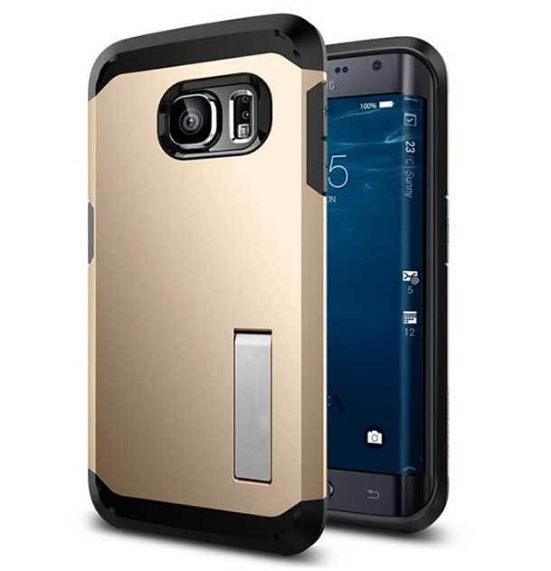 2015 New Coming Tough Armor PC TPU Hybrid Hard Stand Case Cover Sumsung Galaxy S6 Edge G9250 Protective Shell - Century etime store