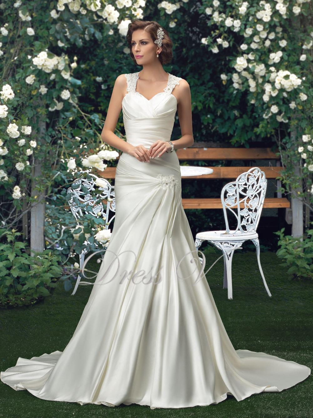 Plus size wedding dresses 2016 beaded straps sweetheart for Plus size wedding dresses with straps