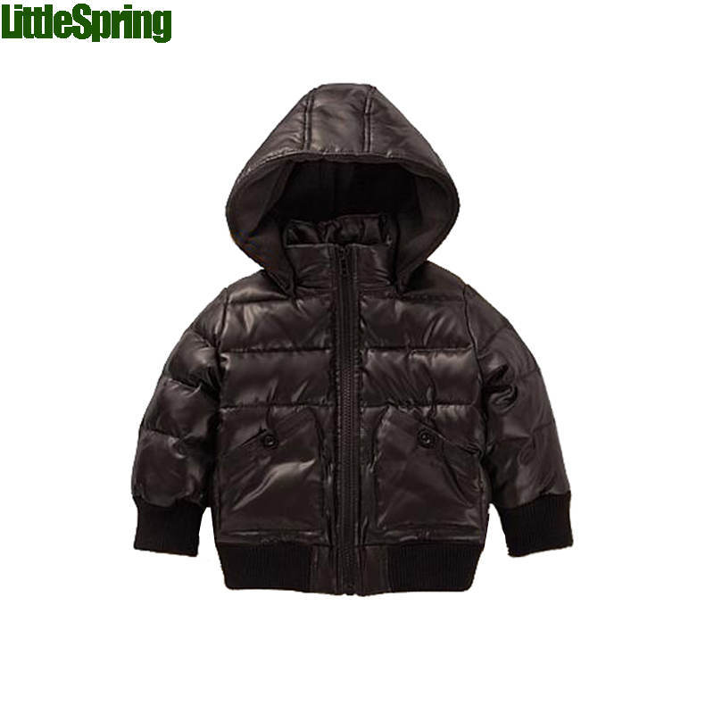 Retail kids winter clothes casual cotton-padded boys jacket children Outwear popular zipper coat 2 colors - baby_mart store