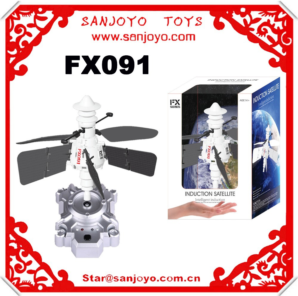 Hot Selling!FX091 RC Flying Toy mini Induction Satellite rc UFO quadcopter(China (Mainland))