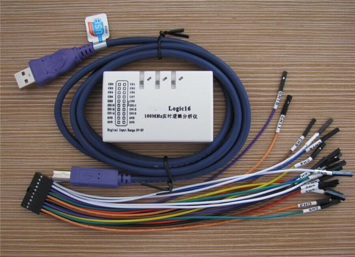 5pcs Logic16 USB 100MHz Real-Time Logic Analyzers (Oscilloscopes)