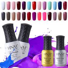 HNM 8ml Gel Nails UV Curing UV Gel Color Polish Top Quality Long Lasting UV Nail Gel Polish Varnish Top Base Coat Needed(China (Mainland))