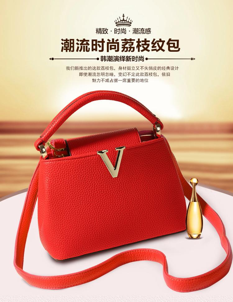 Woman Messenger Bags Fashion 2015 Designers Casual-bag Famous Brand V Metal Tote Bag Lady Handbags Shoulder Bag(China (Mainland))