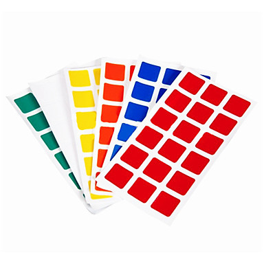 6pcs Durable Stickers Set for 3x3x3 Magic Cube IQ Cube(China (Mainland))