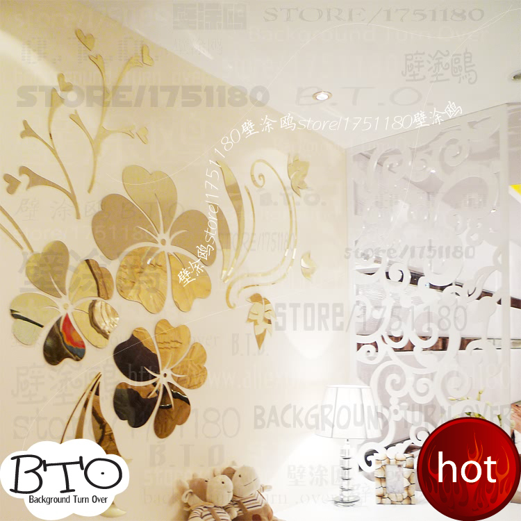 Hot sell diy spring nature hibiscus flower mirror for How to sell home decor online