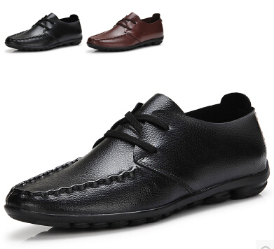 2015 Men's Casual Genuine Leather Shoes Comfortable Soft Bottom Surface Peas Breathable Flat Men - Online Store 7364670 store