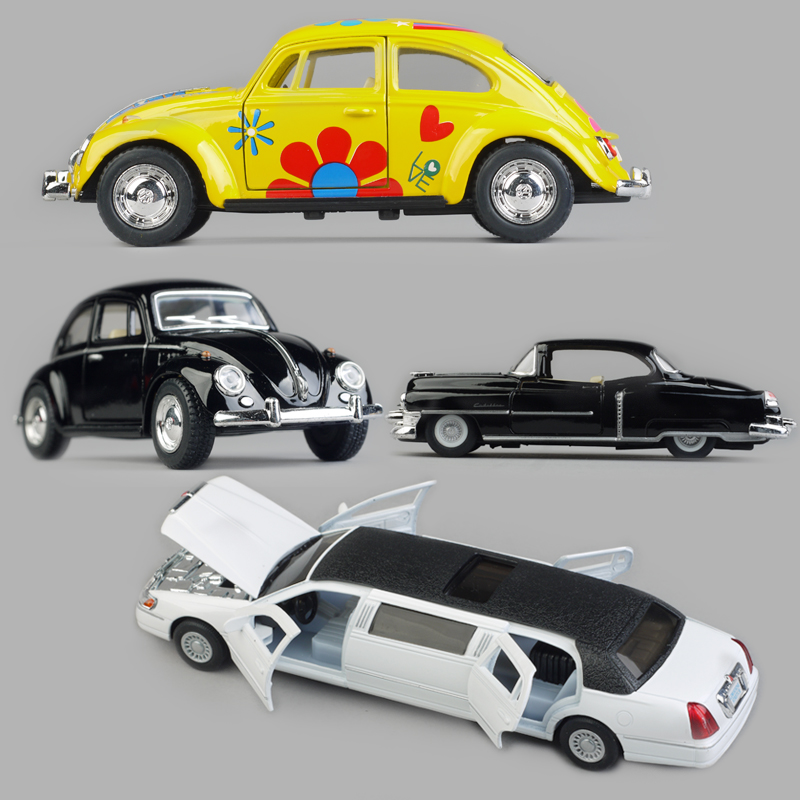 Children's toy alloy car models back Lincoln Cadillac classic cars Volkswagen Beetle(China (Mainland))
