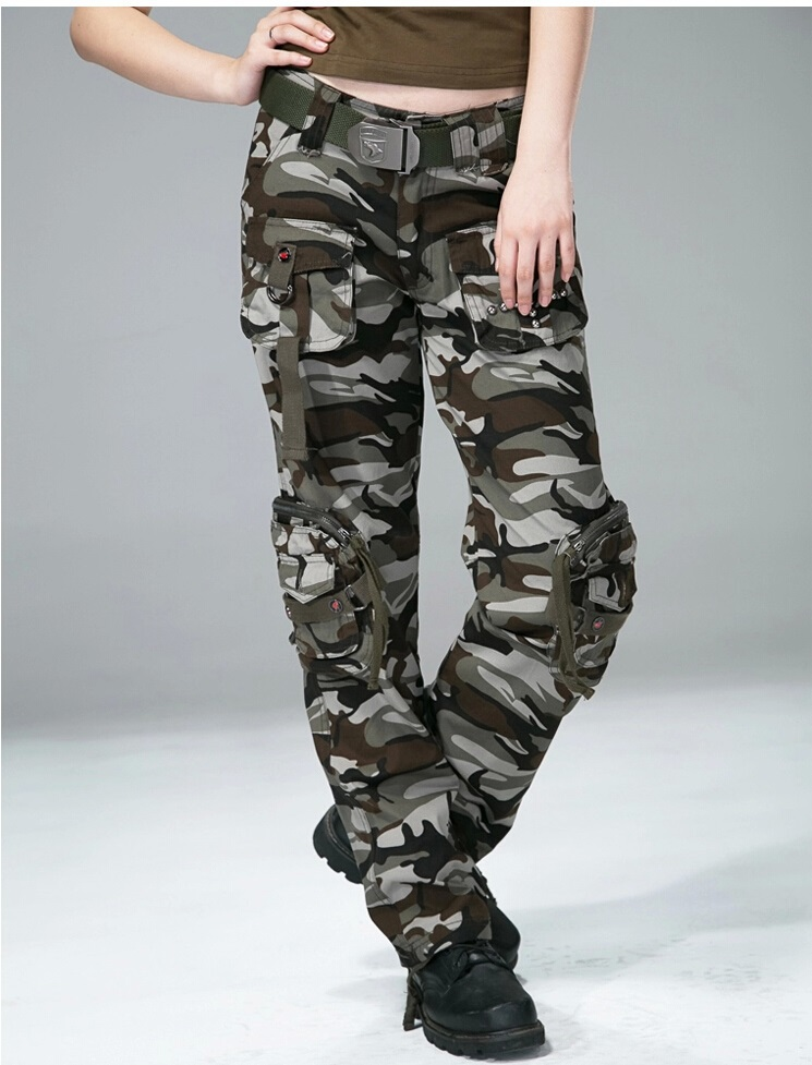 Brilliant Details About Ladies Womens Army Military Green Camouflage Cargo Pants