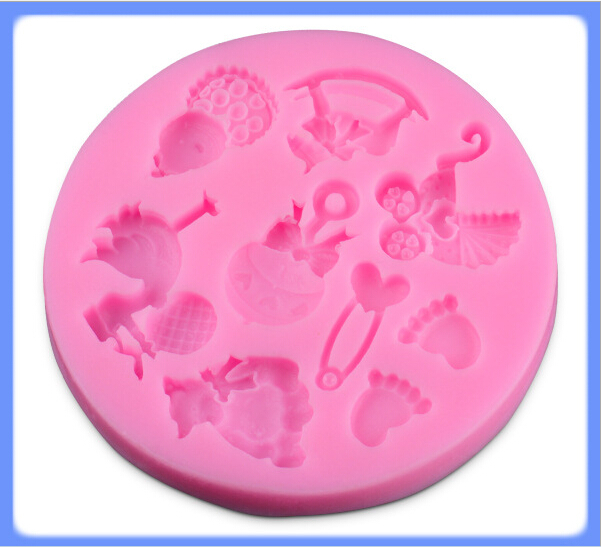 2015 New Cooking Tools Cake Tools cartoon animal Silicone Fondant Cake Chocolate Mold Craft Decorating Tools Mould D15(China (Mainland))