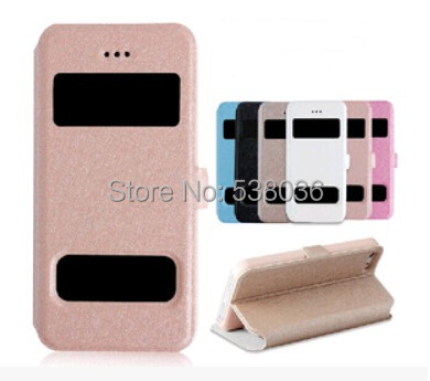 iphone 6 4.7 mobile phone protective Case cover open windown flip leather Silk pattern case - Android accessories store