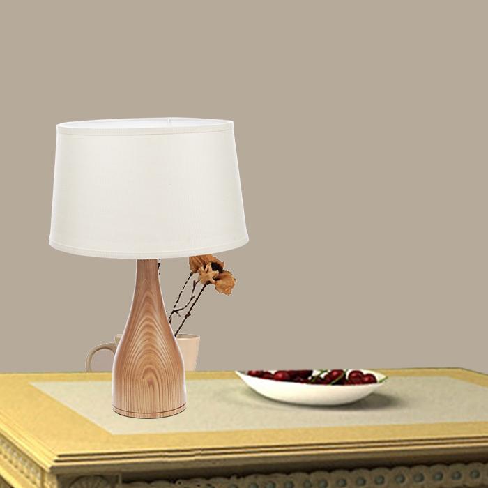 nordic ash wood table lamp linen covers environmental study lamp bedside lamp. Black Bedroom Furniture Sets. Home Design Ideas