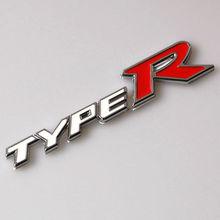 Metal Auto Car TYPE R TypeR Emblem Badge Styling Sticker Fit Honda CIVIC FD2 FD FA FA5 Si CTR New decal accessary - Pop-Auto Shop store